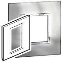 Arteor (British Standard) 3 Modules 1 Gang Square Stainless Steel | LV0501.0861