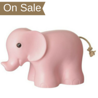 Heico children's lamp - pink elephant