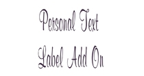 Personalised Text Add On