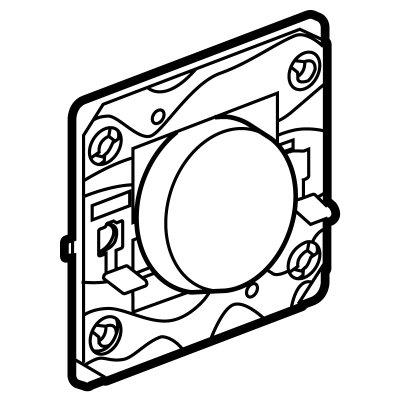 Arteor (Single Pole) 20Amp Way 1 Gang Switch Round - White   LV0501.0005