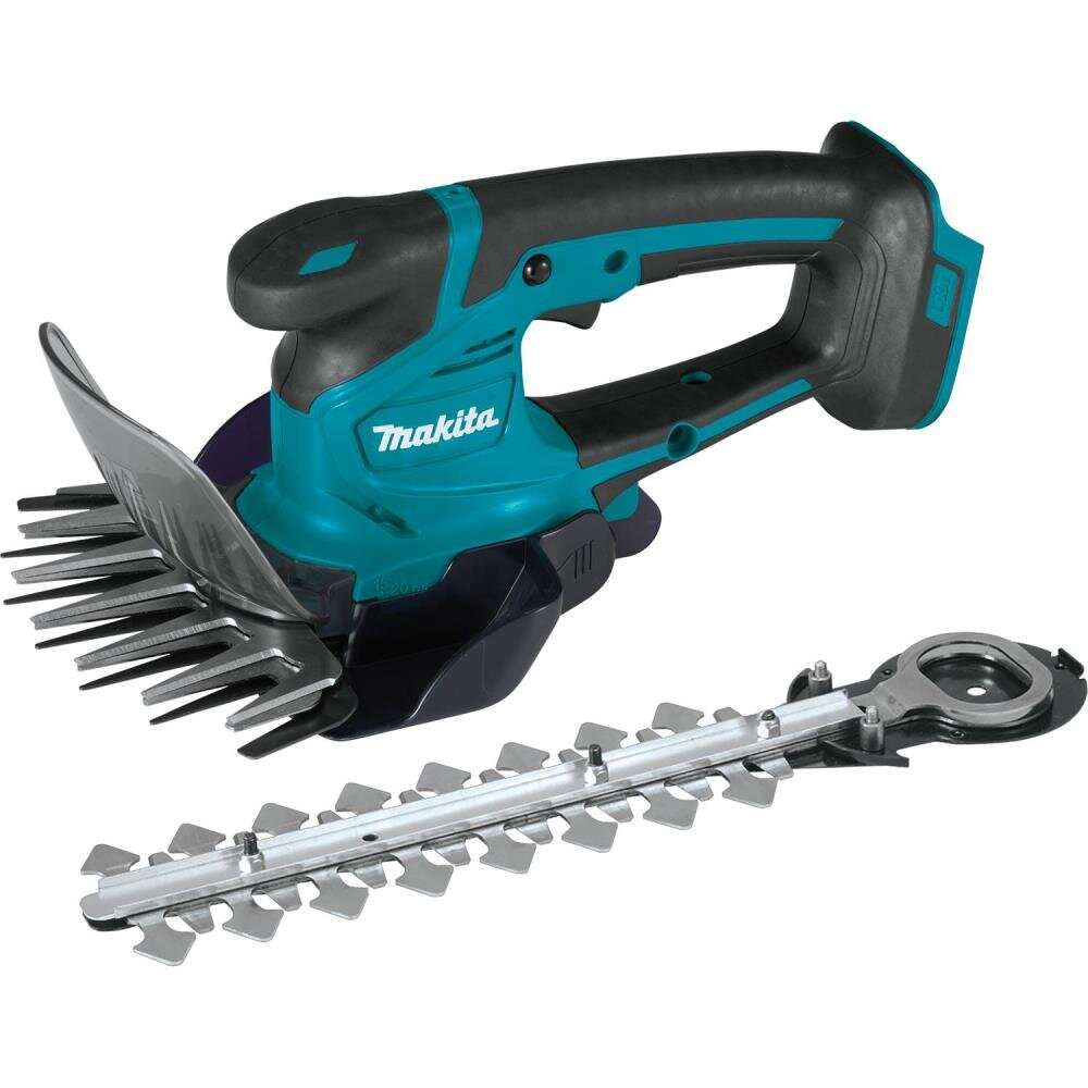 Makita DUM111 18V 110mm Grass Shears with 200mm Hedge Trimmer attachment C/W x2 3.0Ah Batteries & Charger in Toolbag