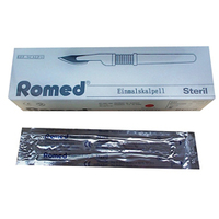 SCALPELS - ROMED - WITH HANDLE-SIZE 18-PK 10