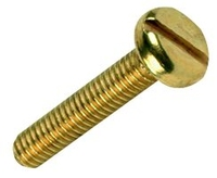 M4 x 12 Brass Machine Screws (Pack 100)