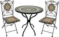 Mosaic Bistro Set Natural Squares