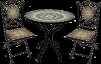 Mosaic Bistro Set  Natural Squares  (Full Set In Brn Box W/Colou
