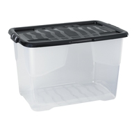 42L Curve Box Clear W/Single Piece Lid