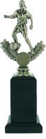 25cm Soccer Trophy on Black Pedestal (F) | TC