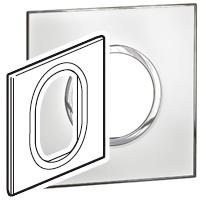 Arteor (British Standard) Plate 3 Module 1 Gang Round Mirror White | LV0501.2696