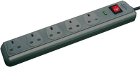1156753 ECO-LINE 13.500 A EXT SOCKET WITH SURGE PROTECTION 2M GREY 5-WAY