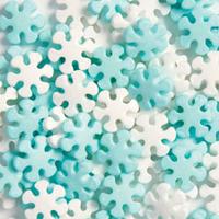 OVSI1550 BLUE / WHITE SNOWFLAKES 600g