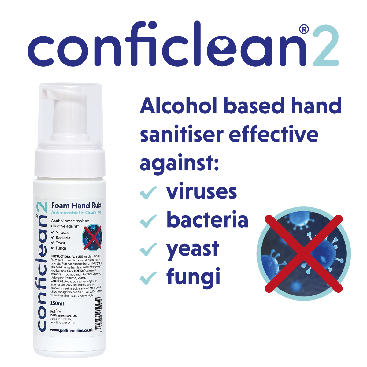 Conficlean2 Foam Hand Rub 150ml x 1