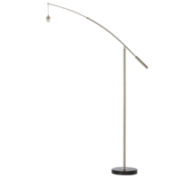 Nadina 1 Floor Lamp Base Brushed Chrome | LV1902.0022