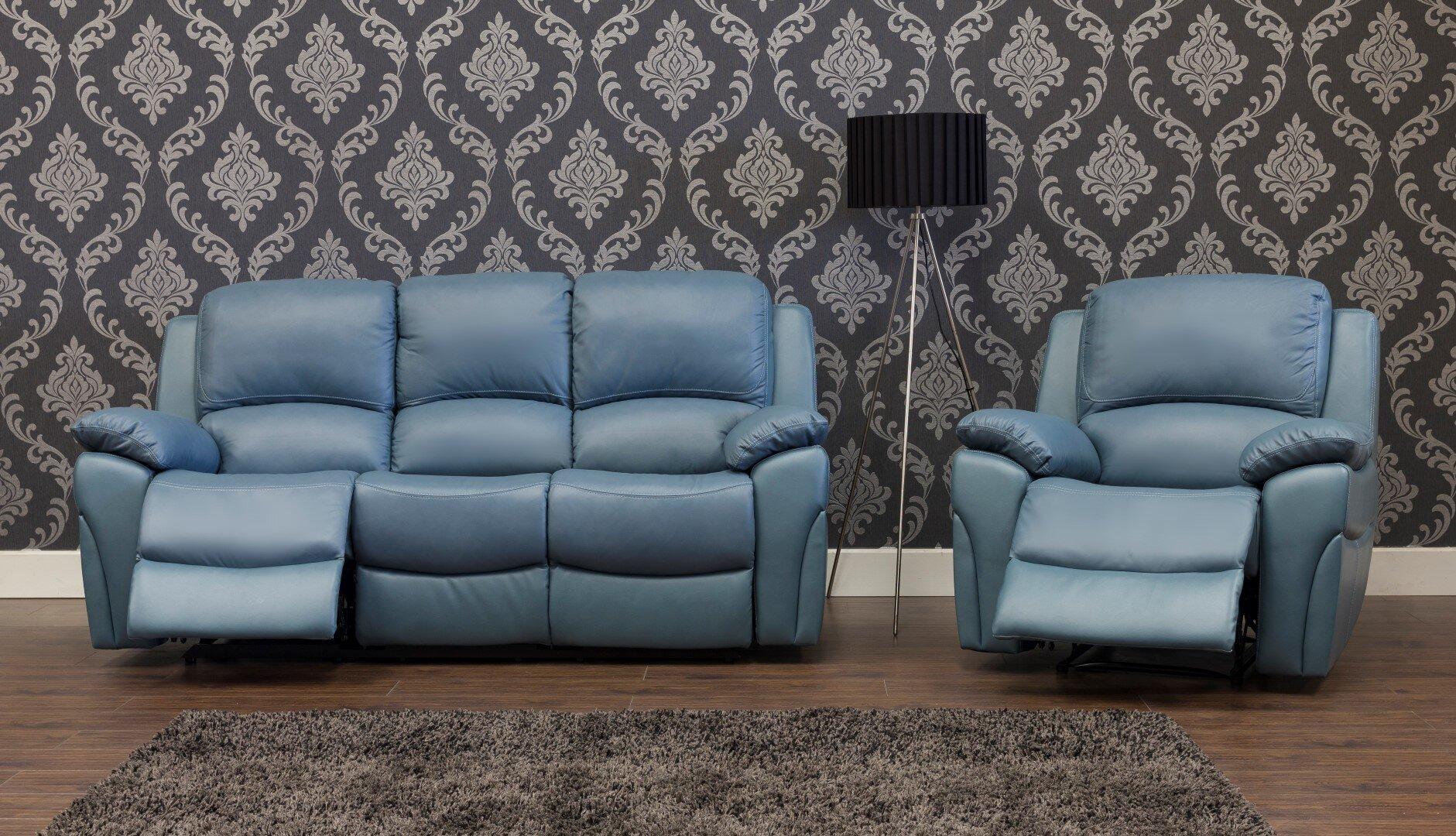 Serena Leather Sofa 3