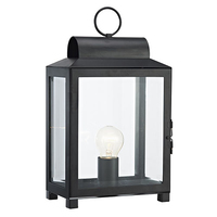 Box Rectangle Table Lamp Black