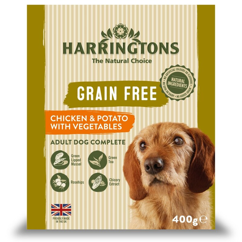 Harringtons Wet Chicken & Potato Dog Food Trays 8 x 400g