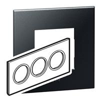 Arteor (British Standard) Plate 6 Module Round Graphite | LV0501.0143