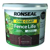 RONSEAL ONE COAT FENCELIFE MEDIUM OAK 9 LTR + 33%