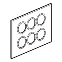 Arteor (British Standard) Plate 2x6m Round White | LV0501.2698