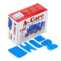 Metal Detectable Plasters - A-care Economy Assorted Dressings, X100, Blue