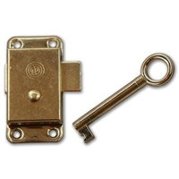 COPEX BRASS WARDROBE LOCK 2 1/2''