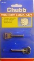 Chubb Window Lock Key For 8k102 Pack of 2