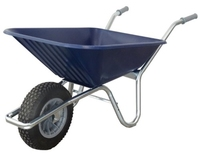 County Clipper Wheelbarrow Plastic 90-110lt - Blue