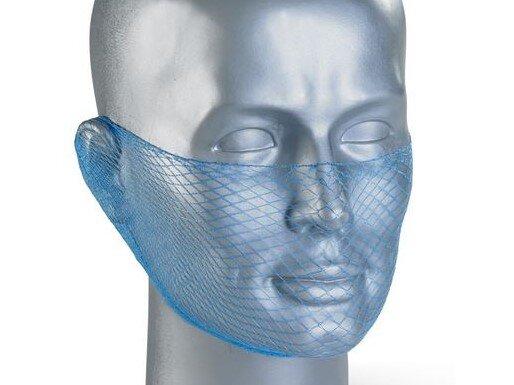 Disposable Beard Net Blue (Snood) (Pack of 12)