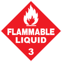Hazchem Class 3 Flammable Liquid Diamond
