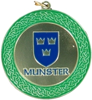 50mm Gold Enamelled Munster Medallion