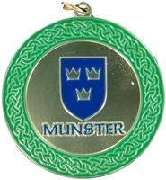 50mm Gold Enamelled Munster Medallion