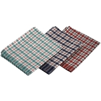 Tea Towel Mini Check 68cm x 43cm Pack of 10