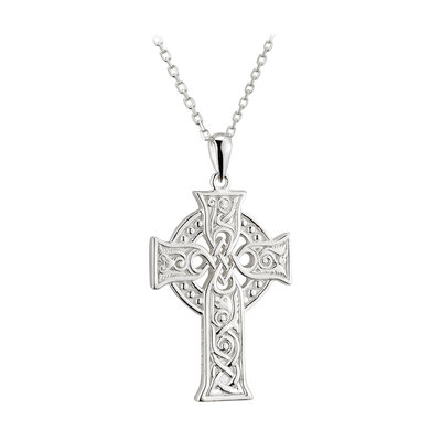 sterling silver small apostles celtic cross pendant s46604 from Solvar