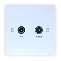 TV / RADIO with DC Pass Wall Plate