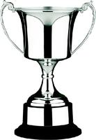 43cm Nickle Plated Studio Cup & Plinth