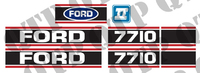 Decal Ford 7710 Force 2 Red & Black