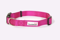 Doodlebone Adjustable Bold Collar Large - Pink x 1