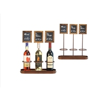 Wine Bottle Chalk Board Display 3 Bottle