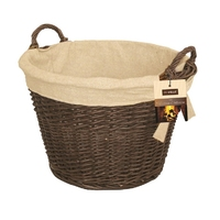 Natural Wicker Round Basket with Liner
