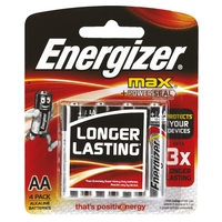 Energizer Max AA Battery Packet 4