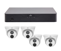 Uniview 4CH 1TB PoE 4K NVR and 4 x 4MP Eyeball Turret Cameras