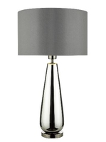 Pablo Table Lamp, Black Chrome Base Complete with Smoked Grey Shade | LV1802.0141