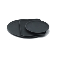 GenGrip Tray Fibreglass Non Slip Round Black 355mm