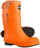 Skellerup Schoen Forestry Pro Level 4 Chainsaw Boot Plain Sole Orange/Blue