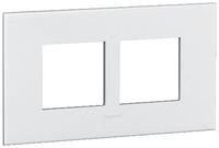 Arteor (British Standard) Plate 2x2m 2 Gang Square White | LV0501.0100