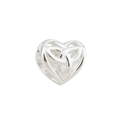 FILIGREE TRINITY KNOT HEART BEAD