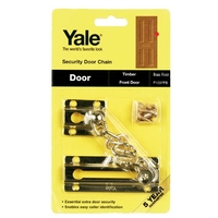 YALE BRASS SECURITY DOOR CHAIN