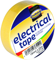 19MM X 20MT YELLOW INSULATING TAPE X 10