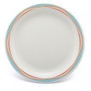 "Large Patterned Plate Swirls Multi Polycarbonate 9"" 23cm"