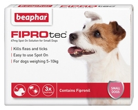 Beaphar FIPROtec Small Dog Flea Drops - 3 Tube x 1
