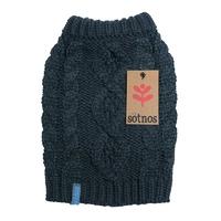 Sotnos Chunky Cable Knit Sweater - Medium Grey x 1